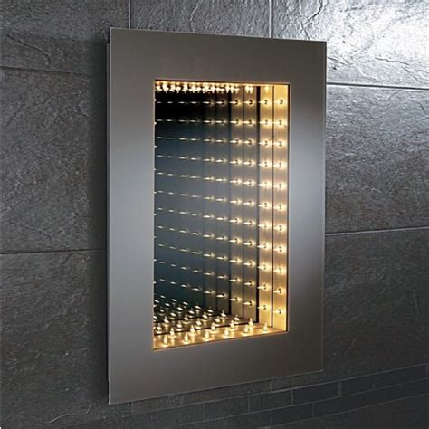 bathroom infinity mirror hib odyssey infinity mirror modern bathroom mirrors mirrors