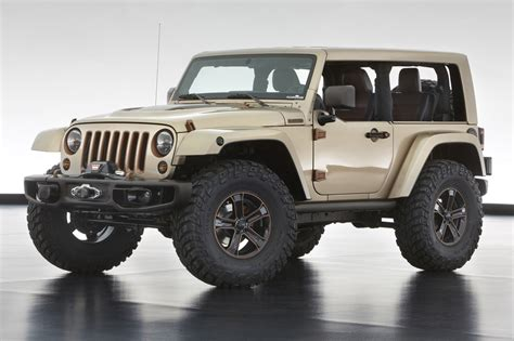 future jeep wrangler concepts jeep unveils extreme wrangler concepts before moab
