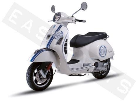 Roller Aufkleber Shop by Stickers Vespa Gts 300 Super Wit Blauw Piaggio Gilera