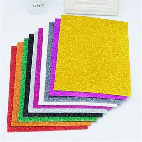 Stiker Paper Kertas aliexpress buy 20 30cm adheasive glitter sponge paper foam paper sheets kindergarten