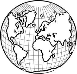 color the world free coloring pages of globe of the world