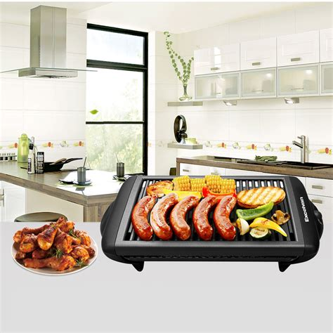 excelvan electric grill indoor barbecue 1120w bbq grill