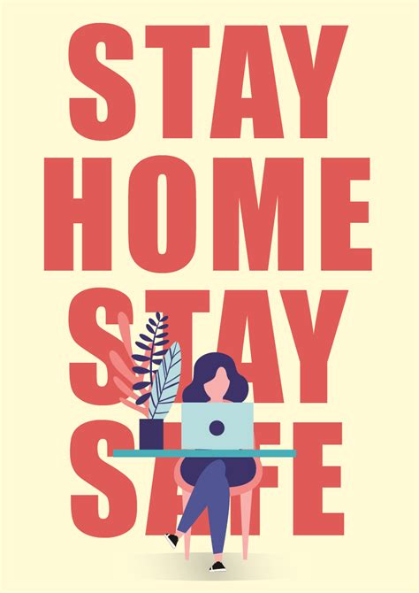 stay home stay safe   powerpoint poster