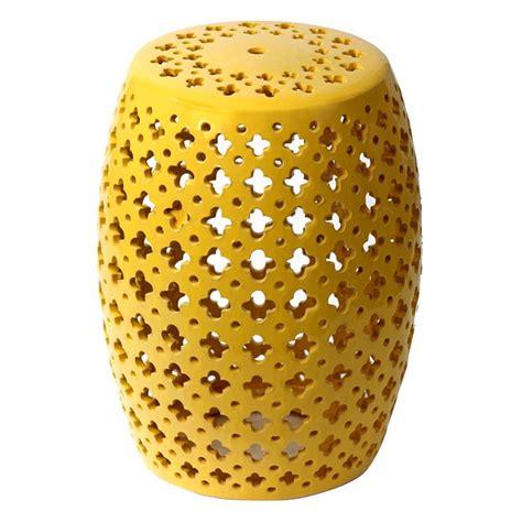 yellow garden stool 25 best ideas about ceramic garden stools on