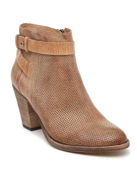 dolce vita yuri leather ankle boots in beige lyst