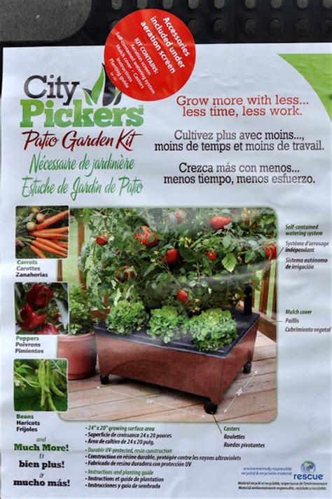 Patio Picker by Patio Garden Kit City Picker Grow Tomatoes On Your Porch