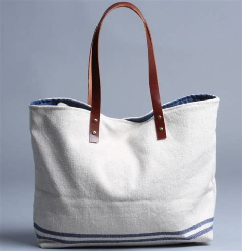 Canvas Tote Bag 6 leather handle canvas tote bag bags more