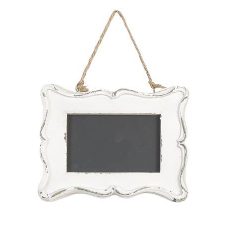 decoration de salle tableau noir cadre baroque blanc