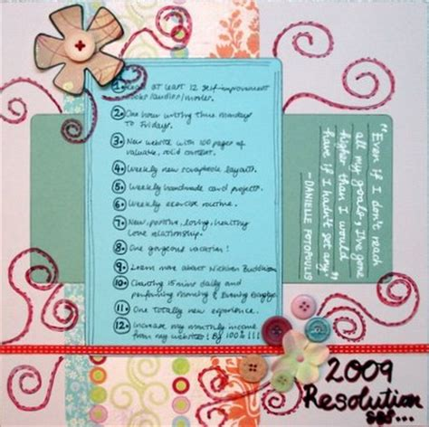 Home Layout Design Tips New Year Resolutions Scrapbooking Idea Everything About