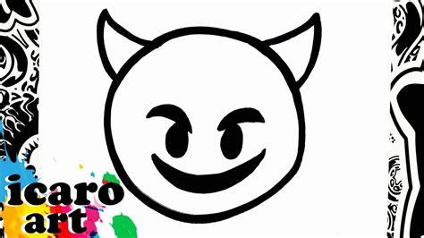 imagenes emoji para imprimir como dibujar un emoji diablo how to draw emojis youtube