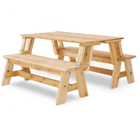 bench into picnic table plans picnic table bench combo plan picnic table bench