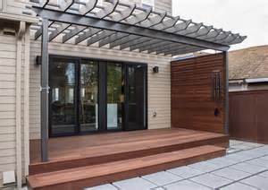 Meranti decking and privacy screen contemporary patio other