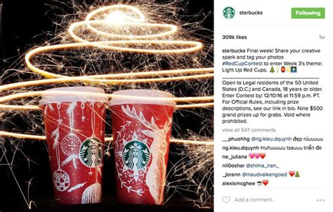 Starbucks Giveaway Instagram - instagram marketing 20 excellent exles ideas from top brands