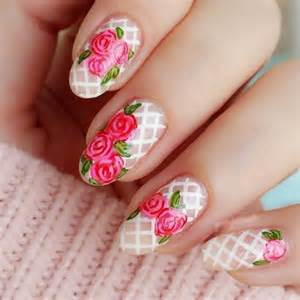 Floral Nail Art Designs At Home » Home Design 2017