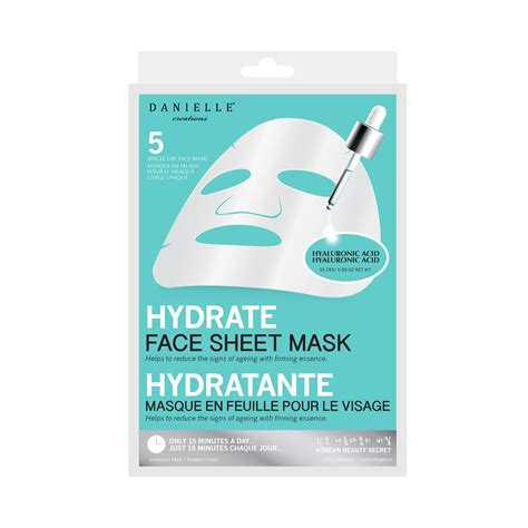 11 best sheet masks for your face hydrating facial mask reviews danielle 5 pack face sheet mask hydrating hyaluronic