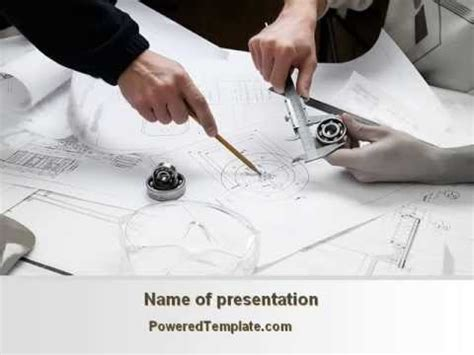 Mechanical Engineering Powerpoint Template By Poweredtemplate Com Youtube Engineering Powerpoint Templates Free