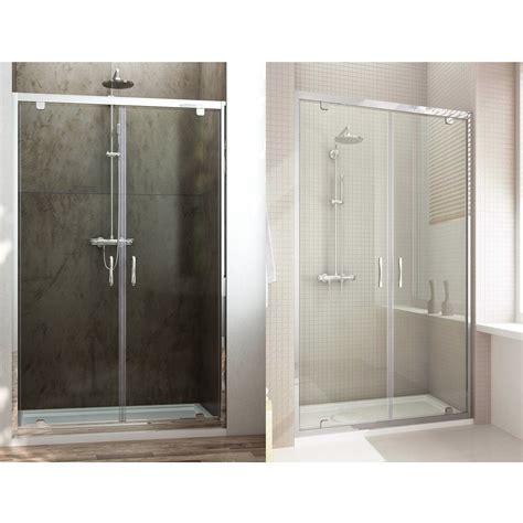 doccia doppia porta doccia doppia anta unica a saloon h198 cristallo 6