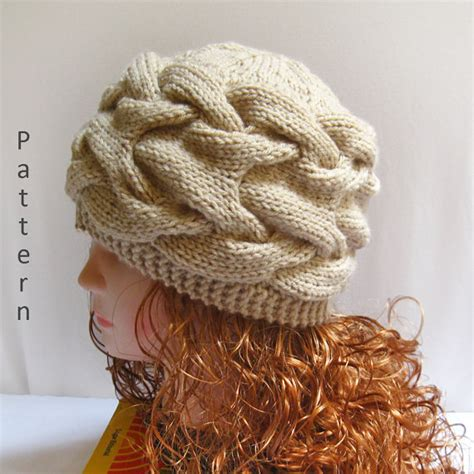 knitting a hat with needles knit hat pattern knit cable hat pdf pattern n40 gifts shop