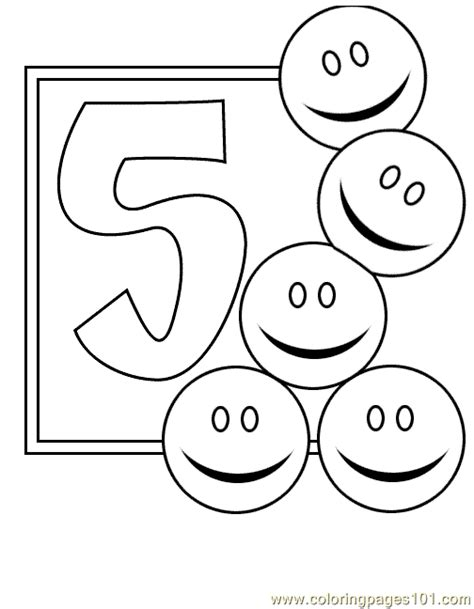 Coloring Page Number 5 by Numbers 5 Coloring Pages 7 Coloring Page Free