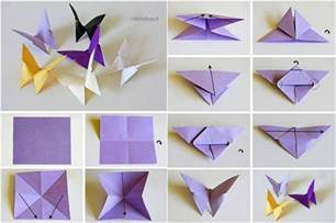 Paper Butterflies Origami - easy paper folding crafts recycled things