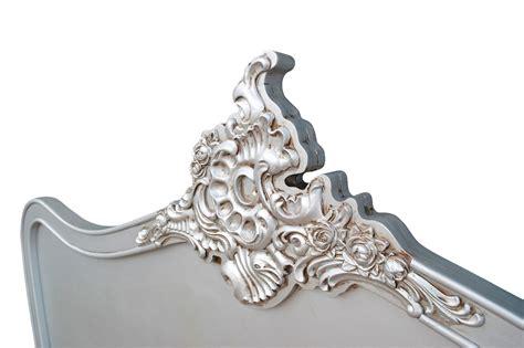antiqued silver 5ft king size headboard la maison