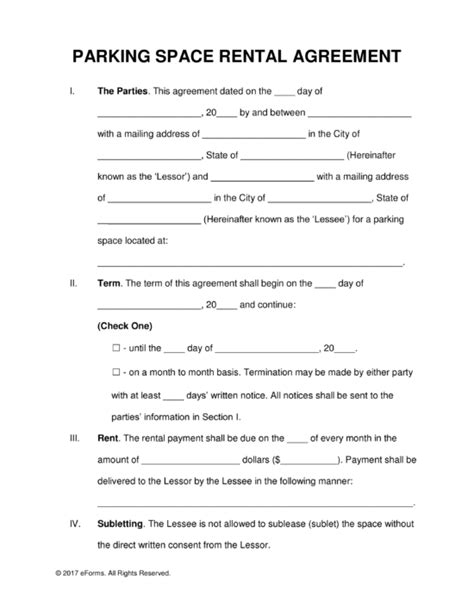 rental agreement templates free rental lease agreement