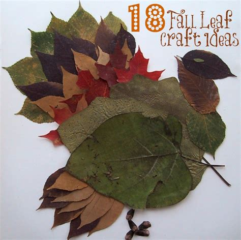 leaf craft for 18 fall leaf craft ideas liz