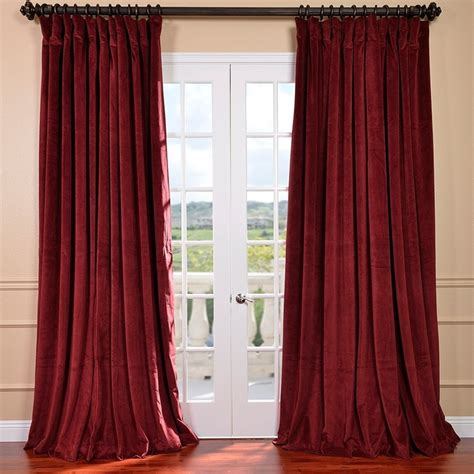 double wide curtain signature double wide velvet rod pocket curtain panel