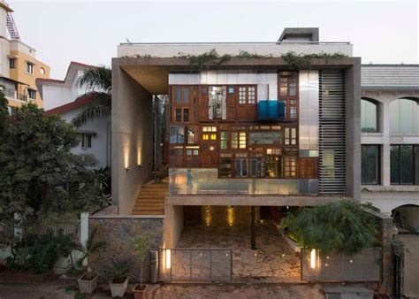 design house in mumbai modern house in mumbai is collaged with recycled doors
