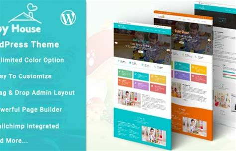 education theme wordpress nulled themeforest baby house kids school wordpress theme