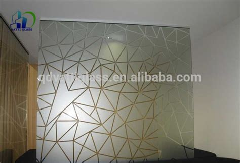 glass partition design acid etched glass living room glass partition design