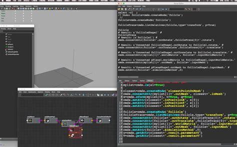 tutorial python maya python scripting a follicle constraint tool in maya