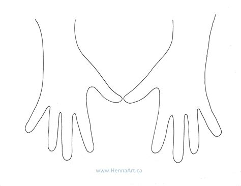 henna design templates for hands best photos of henna hand template blank hand template