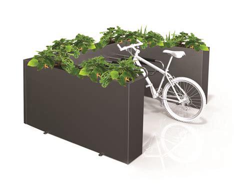 Box For Bike Rack by Bike Rack Three Sided Planter Box