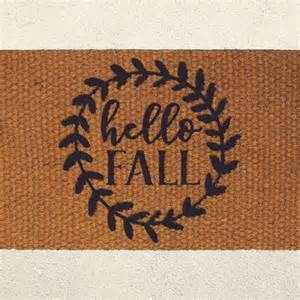 autumn doormat hello fall autumn doormat painted coir by urbanowlcoshop