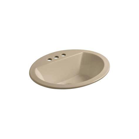 kohler drop in bathroom sinks kohler bryant drop in vitreous china bathroom in
