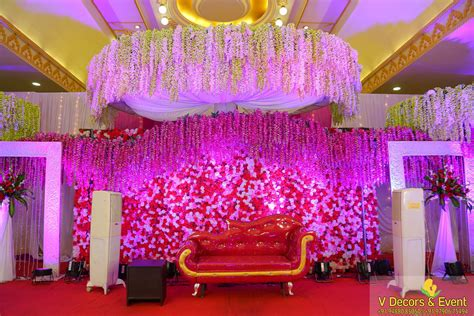 Decoration Reception by Reception Decorations Organize At Jayaram Thirumana