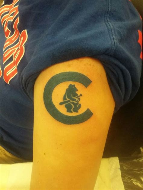 cubs tattoo 18 best chicago cubs tattoos images on chicago