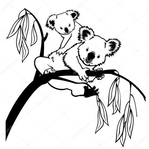 imagenes de koalas en blanco y negro koala mit baby schwarz und wei 223 stockvektor 169 insima