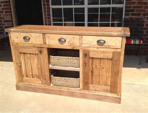 planked wood sideboard    home projects