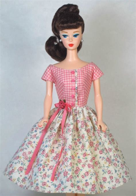fashion doll zippers sweet floral vintage doll dress clothes