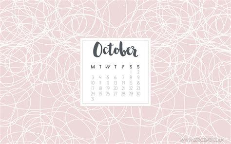 Calendar October 2017 Wallpaper Free Desktop Calendar October 2016 Berice Baby