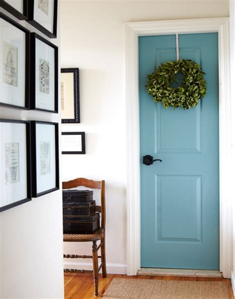 Interior Painted Doors Pinspiration Monday Interior Painted Door Green Diy