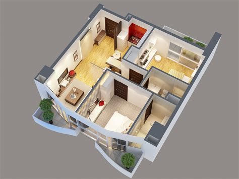 detailed interior apartment  model  model flatpyramid