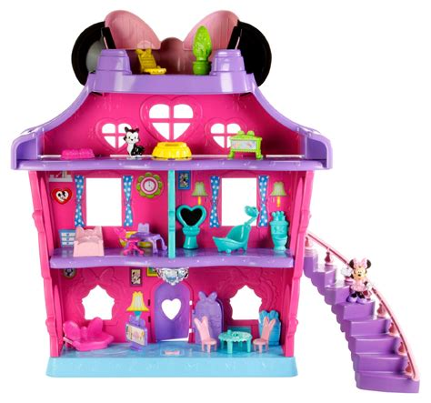 minnie mouse dolls house minnie mouse magical bow sweet home by fisher price 174 toys games dolls