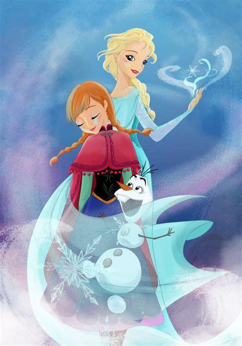 elsa the snow queen elsa anna and olaf