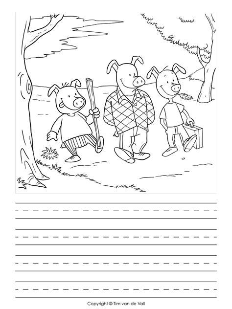 pig writing paper three pigs writing template tim de vall