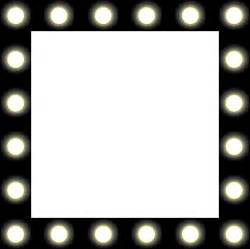 lights frame clipart showbiz make up mirror style frame