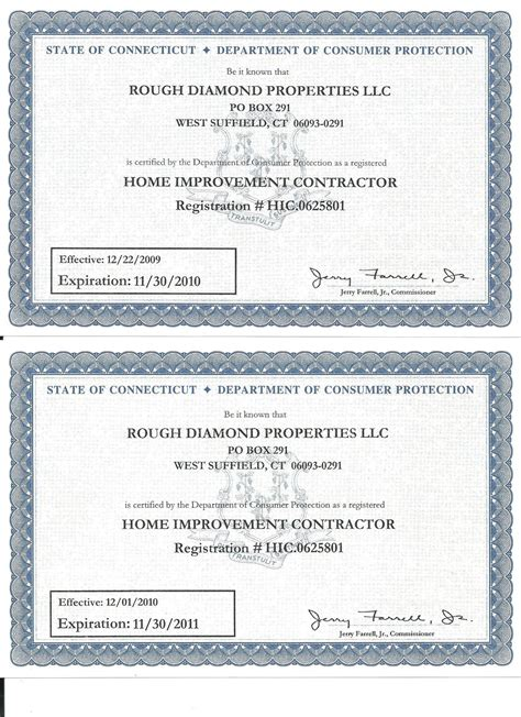 ct home improvement license 28 images marble granite
