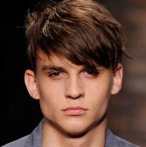 thick straight hairstyles teenage boys short cut straight men hair hair styling pinterest